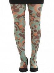 PRE ORDER: Clover Printed Tights - Green