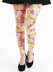 PRE ORDER: Citrus Style Printed Footless Tights