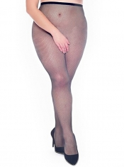 PRE ORDER: Fishnet Crotchless Tights - Black
