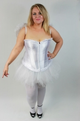 Lovely Classic White Corset Bustier With G-String
