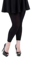 Cute Footless 80 Denier Black Tights
