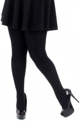 Designer Opaque Black Tights - 120 Denier