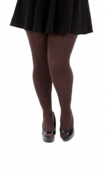 Designer Opaque Chocolate Tights - 120 Denier