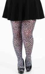 Small Leopard Printed Tights - White ------SOLD OUT------