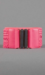 Dakota Woven Belt - Hot Pink