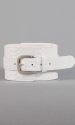 Ellie Buckle Belt - Cream