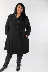Super Stylish Long Lightweight Trench Coat – Black