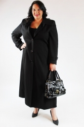 Smart Lightweight Extra Long Plus Size Jacket - Black