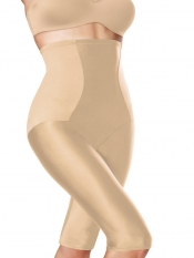 Designer High Waist Body Shaper Shorts - Nude