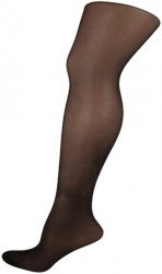 Double Gusset Black Pantyhose - 2 Pairs