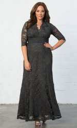 Screen Siren Lace Gown - Twilight Grey
