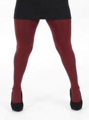Designer Opaque Burgundy Tights - 120 Denier