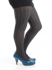 Dogtooth Big Printed Tights - Grey ------SOLD OUT------