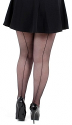 Jive Seamed Tights - Black
