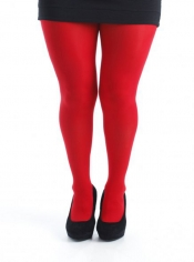 Denier Opaque Red Tights - 50 Denier