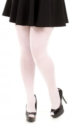 40 Denier Velvet Tights - White