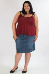 Essential Short Length Cami - Wine