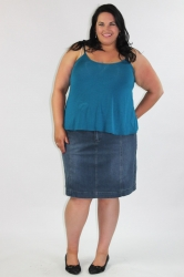 Essential Short Length Cami - Teal