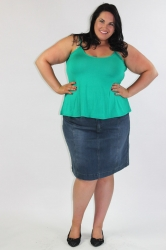 Essential Short Length Cami - Green