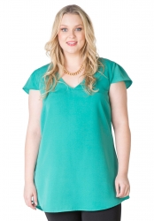 Caped Sleeve Tunic - Ivy