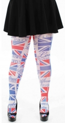 British Flag Printed Tights - Multicoloured