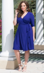 Essential Wrap Dress - Cobalt Blue