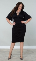 Rumor Ruched Dress - Black Noir