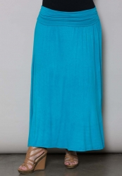 California Maxi Skirt - Turquoise