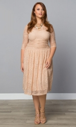 Swinging Symphony Dress - Blushing Beige