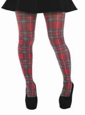 Red Tartan Tights