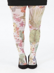 Secret Garden Printed Tights - Multi