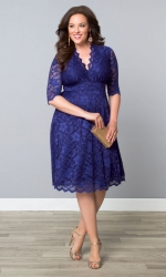 Mademoiselle Lace Dress - Sapphire Blue ------SOLD OUT------