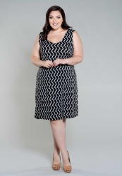 Michelle Tank Dress - Black and White