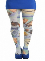 Sea Shell Printed Tights