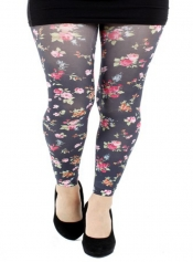 Ditsy Floral Printed Footless Tights