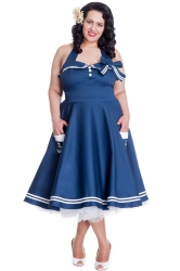 Motley 50s Dress - Navy