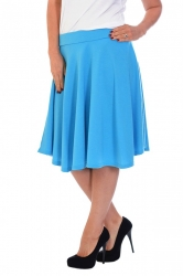 Pretty Pleated Flared Skater Skirt - Turquoise