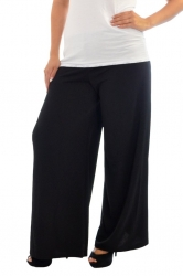 Lovely Light Crepe Palazzo Pants - Black