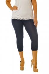 Essential Versatile Cropped Leggings - Navy Blue