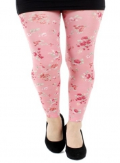 Ditsy Petite Pink Flower Printed Footless Tights