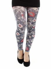 Mediva Printed Footless Tights