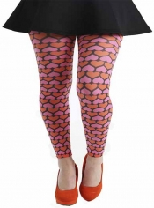 Candy Hearts Printed Footless Tights Pink