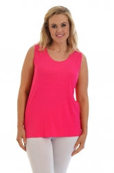 Simple Wide Strap Fitted Cami - Cerise