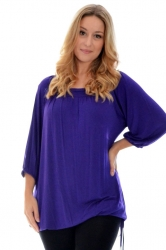 Cute Casual Square Neck Top - Purple