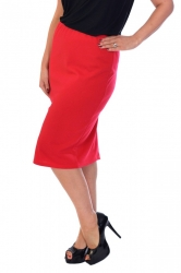 **Essential** Professional Ponte Pencil Skirt - Red