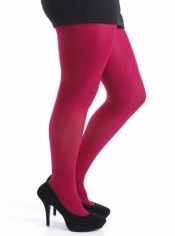 Designer Opaque Cerise Tights - 50 Denier