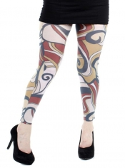 Marquette Printed Footless Tights