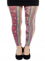 Aztec Ethnic Printed Footless Tights