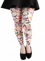 Flower Power Printed Footless Tights