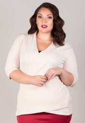 Camille Faux Wrap Top - Ivory